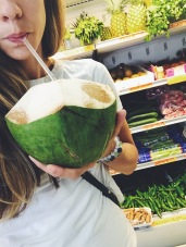 Fresh Cut Coconut Drinks at Fresh Produce on Aloma